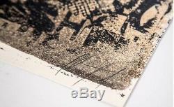 AMORPHOUS By VHILS Lithographie signée et numérotée Hand Finished