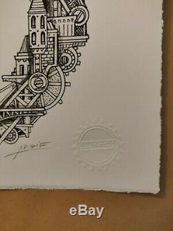 ARDIF Chameleon Mechanimal Ruby /10 Very Rare print C215 Banksy Stom500 RNST