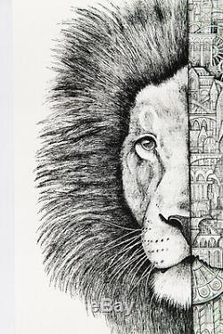 ARDIF Lion Mechanimal Edition originale signée numérotée /40 COA