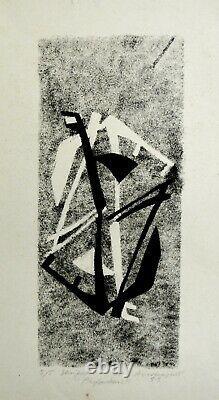 Anastassievitch Boris 4 linogravures originales 1954 signées /ART / ZADKINE