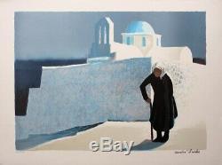André BRICKA Les Cyclades LITHOGRAPHIE Originale signée #125ex