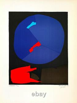 André LANSKOY / Hand signed and numbered Lithograph print, 1974