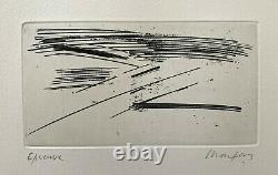 André MARFAING / Hand signed Etching print, 1974