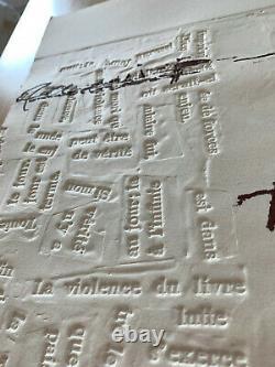Antoni TÀPIES / Hand signed etching print 1975