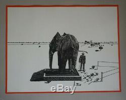 Antonio SEGUI Eléphant lithographie originale signée, datée et justifiée