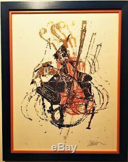 Arman (1928-2005) Superbe Et Rare Lithographie. Piano Et Violons