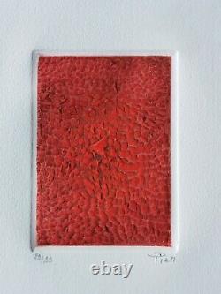 Arthur-Luiz PIZA (1928-2017) Gravure Terre brûlée SIGNÉE et NUMÉROTÉE