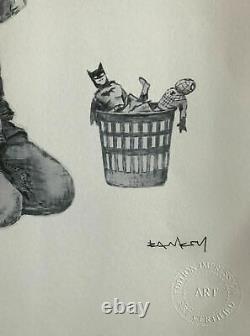 BANKSY Game Changer Edition Numétotée COA Artwork Record Comics Batman Spiderman