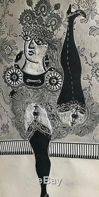 BERNI Antonio RAMONA DANS LE CABARET 1964 GRAVURE ORIGINALE EN RELIEF SIGNEE