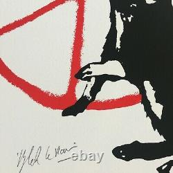 BLEK LE RAT The Anarchist Signed and numbered Screenprint Rare in hand