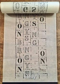 BRION GYSIN ROLLER POEM Poème graphique enroulé, numéroté et signé