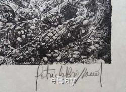 BRISSAUD Patrick Le Sarcophage LITHOGRAPHIE Originale signée #75ex