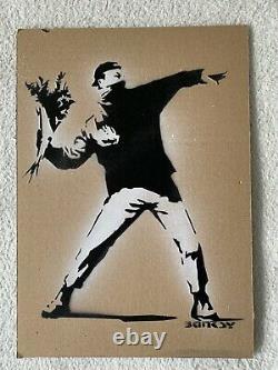 Banksy original Dismaland Cardboard Signed And Numbered + Mappa Banksy + Tiket
