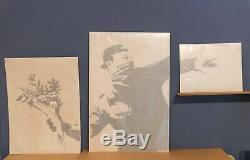 Banksy thrower triptych print original signed numeroted 300 Grossdomesticproduct