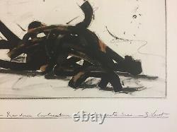 Bernar VENET Random combination of indeterminate lines 5, 2019, gravure