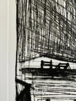 Bernard BUFFET, Phare et bateau de pêche 1980 / Hand signed and numbered Etching