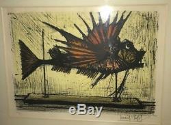 Bernard BUFFET Rascasse 1964 Lithographie originale n°112/150