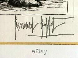Bernard Buffet litho Le Phare du Guilvinec signée, numérotée, encadrée -TBE