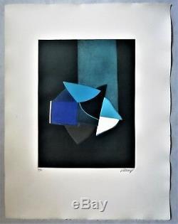 Bertrand DORNY gravure originale aquatinte 4 couleurs signée numérotée