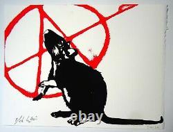 Blek Le Rat LAnarchiste Sérigraphie signée & numérotée Certificat banksy