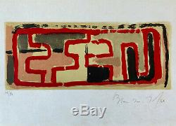 Bram VAN VELDE / Hand signed and numbered Lithograph print