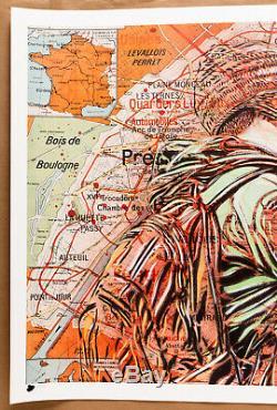 C215 Christian Guemy Paris, Le Baiser Print 100 x 70 cm, signé, numéroté /50