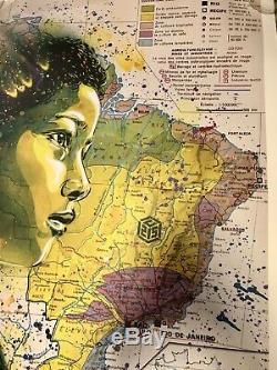 C215 (Christian Guemy) Print Kid Favela signé numéroté /50 RARE Street Art