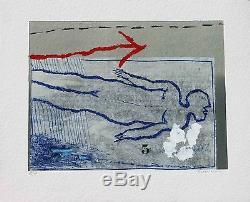COIGNARD James Nu bleu Gravure au carborundum signée et numérotée