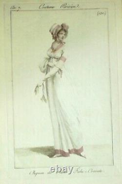 COSTUME PARISIEN-1799-121-(An 7)-Directoire-Journal des Dames