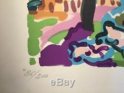 Charles Lapicque(1898-1988)Lithographie estampe original Rome 1957