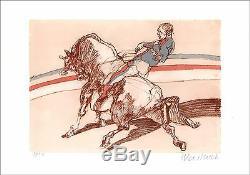 Claude WEISBUCH Lithographie originale signée au crayon, numérotée, L'Écuyer