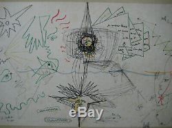 Cocteau Jean Moretti Raymond Lithographie Signée Num/29 Signed Numb Lithograph