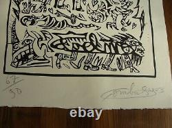 Combas Robert Contemporain Lithographie Dessin Signee