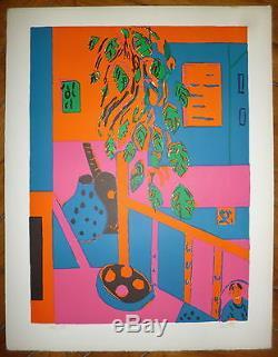 Crotto Paul Lithographie signée numérotée Art Abstrait abstraction UK
