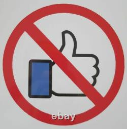 DENIAL No Likes sérigraphie sur métal signée-num/10 + COA /imbue/invader/faile