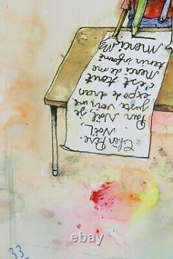 DRAN Chère Père Noël Handfinished Signée + sticker Banksy, shepard fairey, pejac