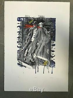 Daniel Authouart Ghosts Lithographie Originale Parfait Etat