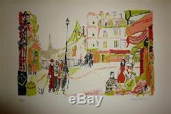 Dany LARTIGUE Lithographie Signée Numérotée 1972 Paris