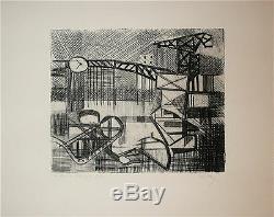Dayez Georges gravure originale signée numérotée cubisme art abstrait