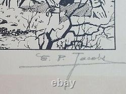 E. P. Jacobs Sérigraphie originale signée numérotée 54/125 TL SOS Météores 80's
