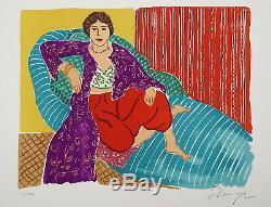 Elmyr de Hory Odalisque lithographie d'après Gauguin, signed and numéroted
