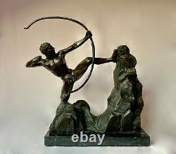 Emile-antoine Bourdelle Bronze Sculpture Hercule L'archer Signée Et Numérotée