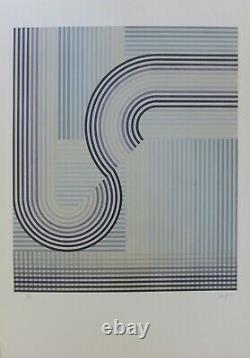 Eusebio SEMPERE Se, lithographie signée, 1974