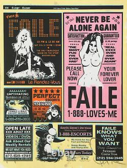 FAILE / Hand signed Silkscreen print and acrylic on wove paper