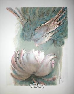 FRANÇIS SAINT-GENIES Lithographie originale signée numérotée art Erotic