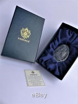 Faberge Imperial-Sculpture-Oeuf-Cristal-Russia-Signé-Fait main-Signé-Numéroté