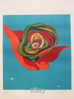 Felix Labisse Lithographie Originale Signée Surréalisme / Vintage