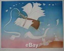 Folon Jean Michel Gravure Signée Au Crayon Num Ea/x Handsigned Numb Ea/x Etching