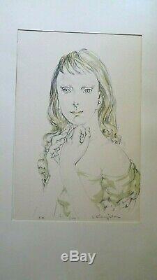 Foujita Ecole De Paris Montparnasse Lithographie Fillette Blonde Datee 1964