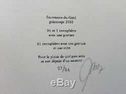 François-Xavier Lalanne Gravure Signé 36ex in Patrick Mauriès Désapprendre 2002